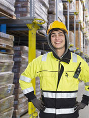 Man in warehouse image